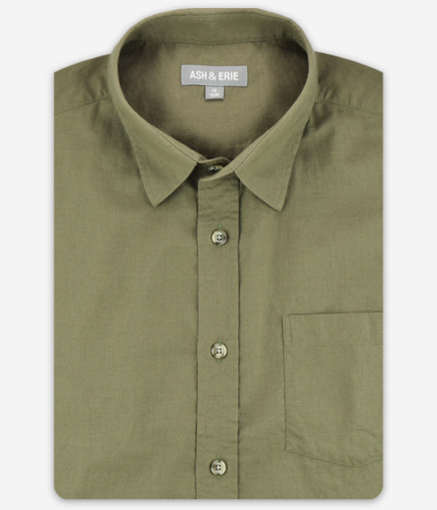 Safari Green Linen Shirt