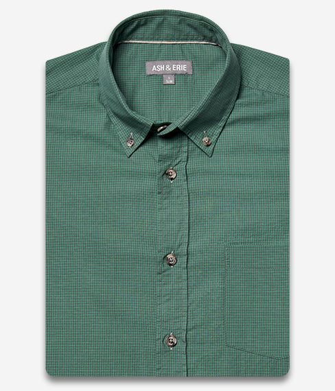 Mint Micro Gingham Shirt