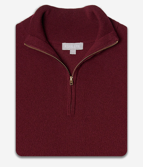 The Merino Wool Sweaters - Burgundy
