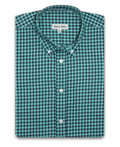 Teal Gingham Everyday Shirt
