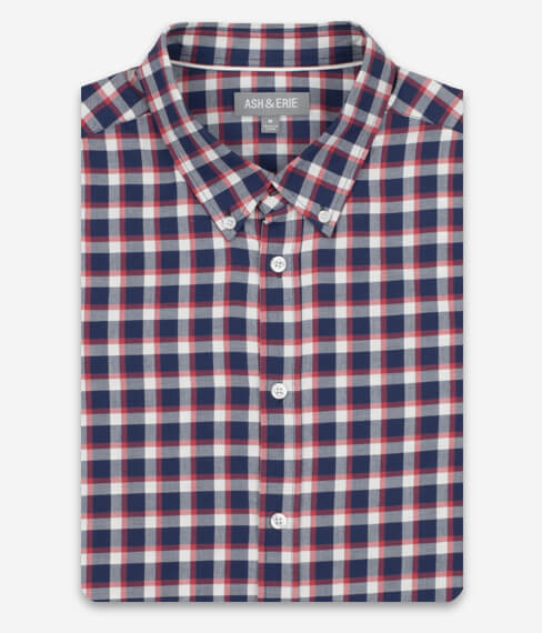 Warm Red Check Everyday Shirt