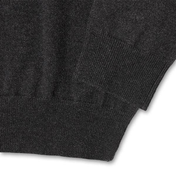 Buy Charcoal Crew Neck Sweater Wool Sweater for Short Men | Ash & Erie   Sweaters