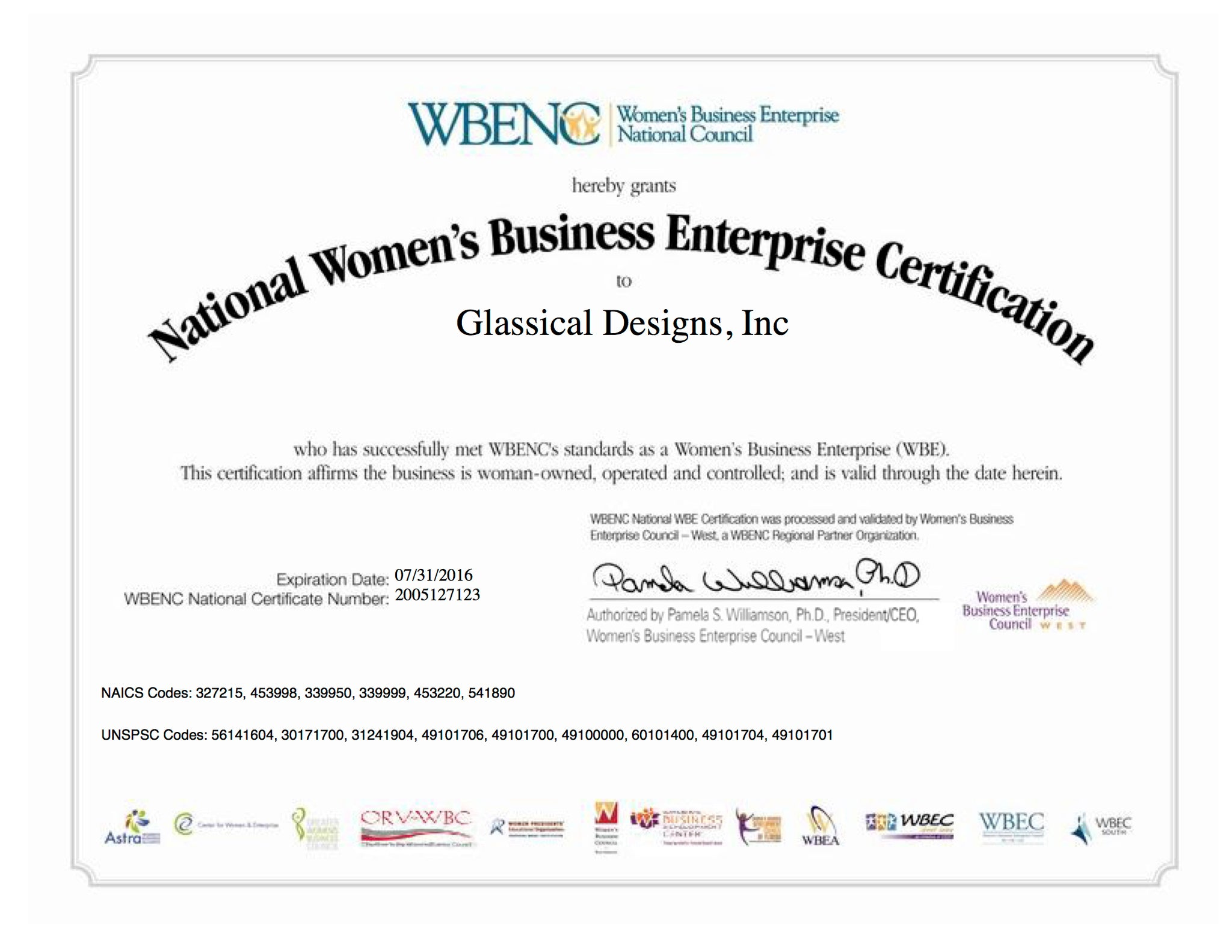 Woman Owned Business Certification – Glassical Designs Crystal ...