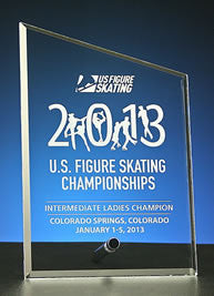 US Figure Skating - Cantebury Slant Plaque - Glassical Designs