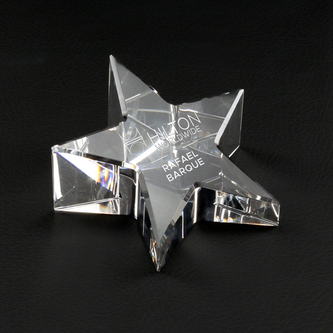 Slant Star Paperweight