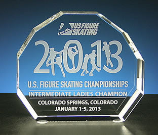 US Figure Skating - Sunset Paperweight - Glassical Designs