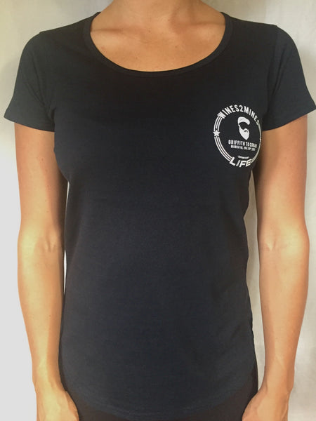 Wine To Mines // Gibbo Greatness Tee (Women's. Navy only)