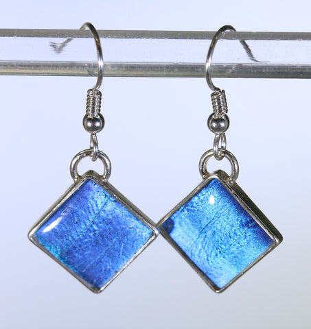 Sterling Silver - Earrings - Diamond Shaped