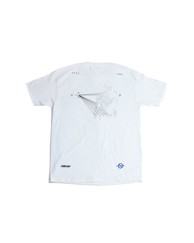 VANISHING POINT WHITE SHORT SLEEVE
