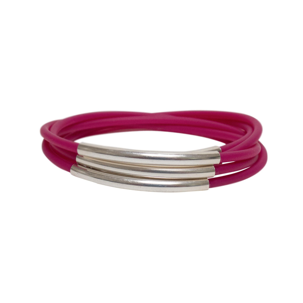 CB16 Rubber 5 Line Bangle