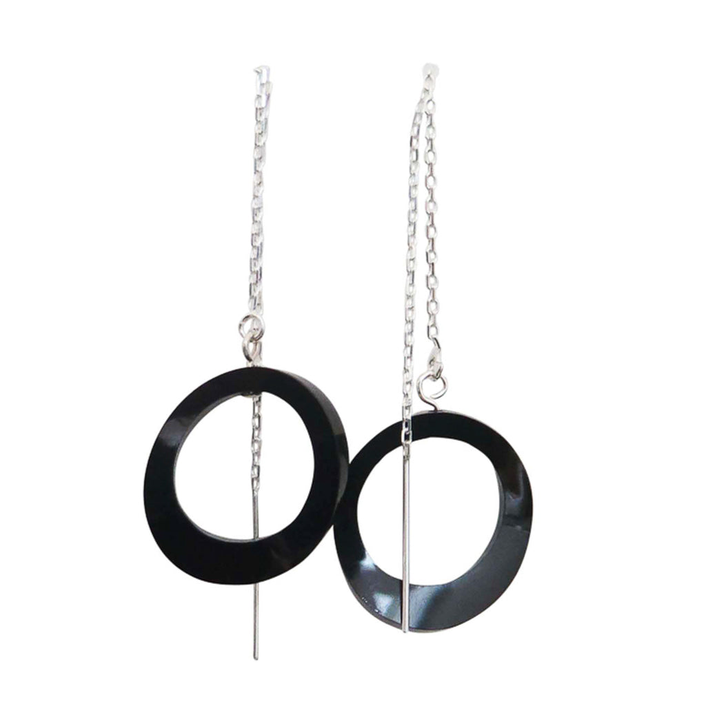 Ovals on Chain Earrings