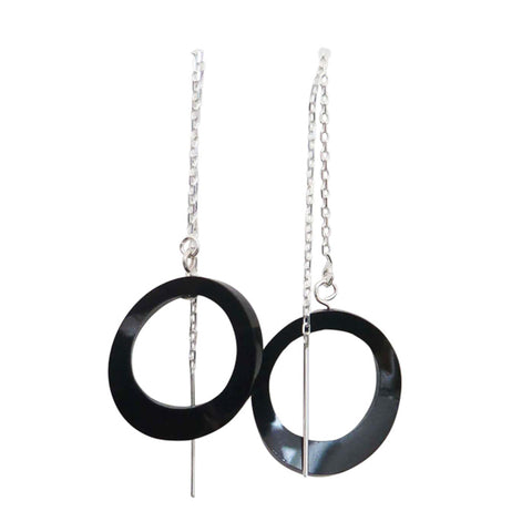 OE16 Twisted Oval Earrings