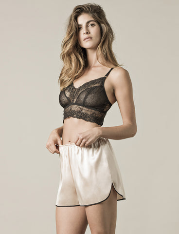 Niu Ami | Paris Bralette & Shorts | Cupsize Nightwear Responsibly Made in the UK