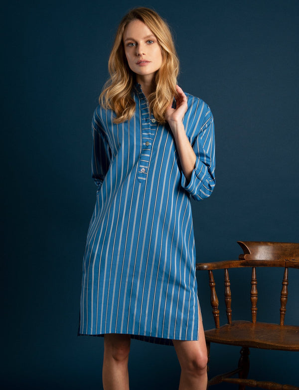 Delphi Cotton Stripe Sleepshirt