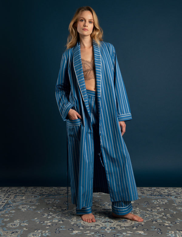 Delphi Cotton Striped Robe