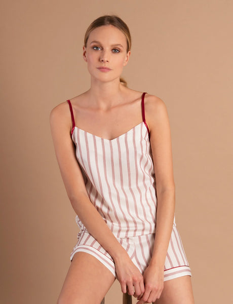 Nui Ami Bordeaux Striped Camisole