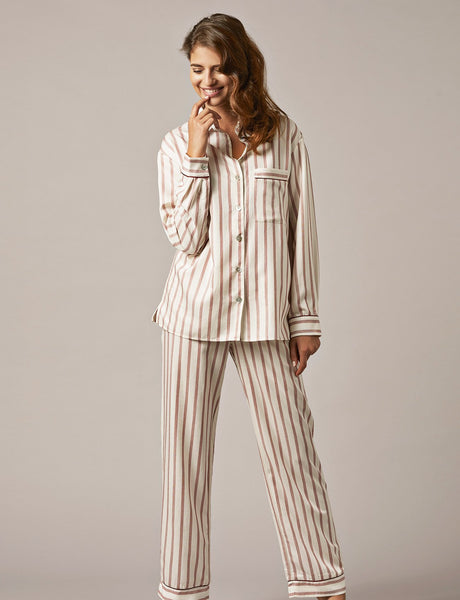 Nui Ami Bordeaux Striped Pyjama Set