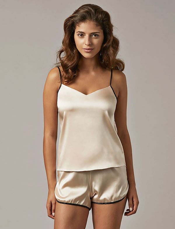 Nui Ami Paris Blush Silk Camisole