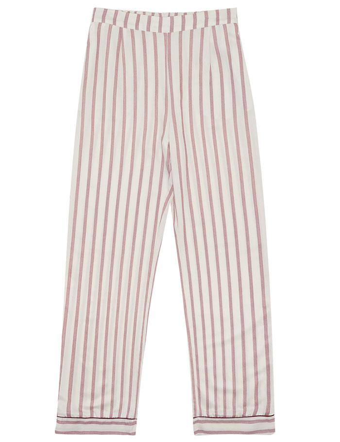 Nui Ami Bordeaux Cotton Striped Trouser