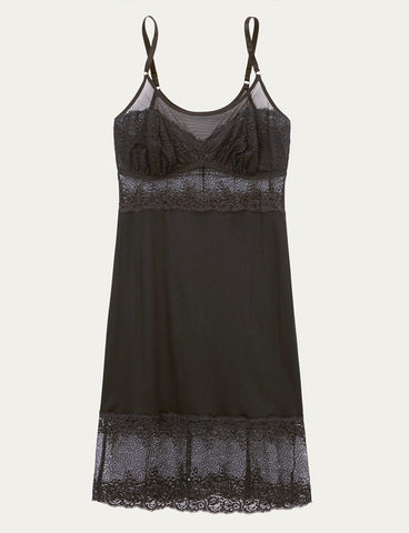 London Black Lace Slip Product