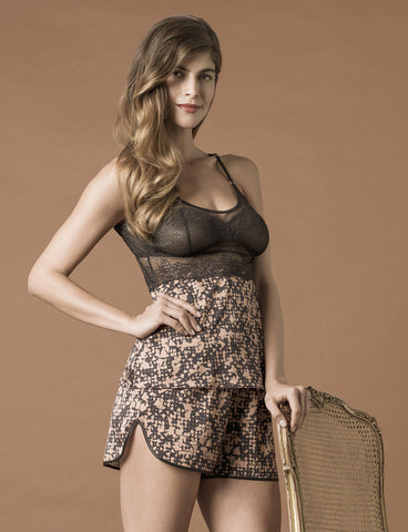 model wearing Venice Print Camisole & Short