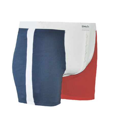 Boxer tricolore Made in France 100% coton - Eugène