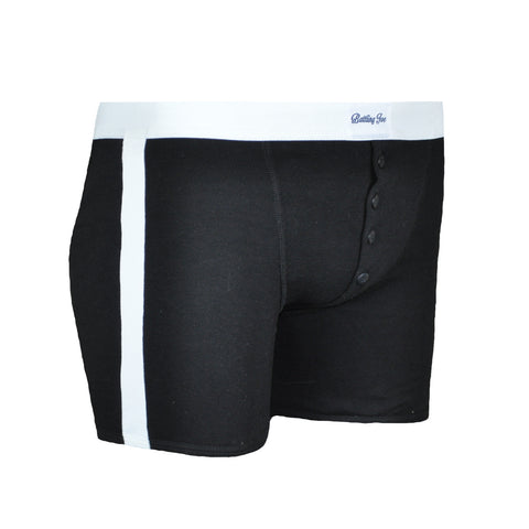 Boxer noir Made in France 100% coton - Joe