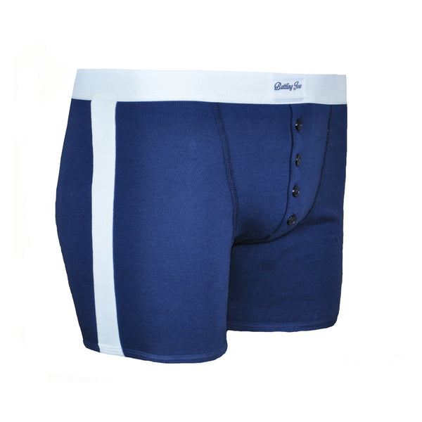 Boxer bleu Made in France 100% coton - Mike