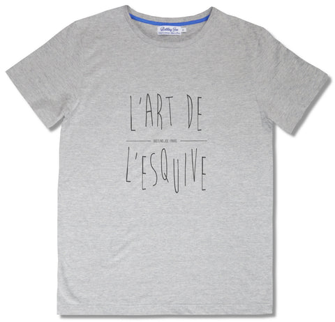 Shop Tee-Shirt Made in France Battling Joe Gris l'Art de l'Esquive