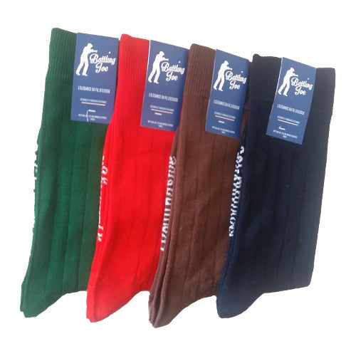 Chaussettes Made in France en fil d'Ecosse Vert Anglais
