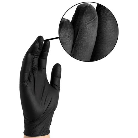 Black Nitrile Disposable Gloves (XL) 100 Gloves / 50 Pair (Per Box)