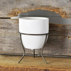 Oval Modern Planter with Stand