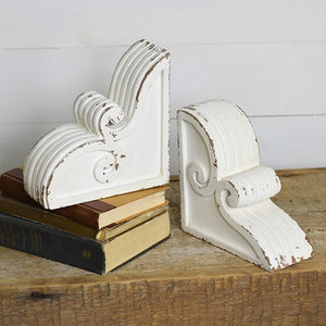 White Curly Corbel (2pc)