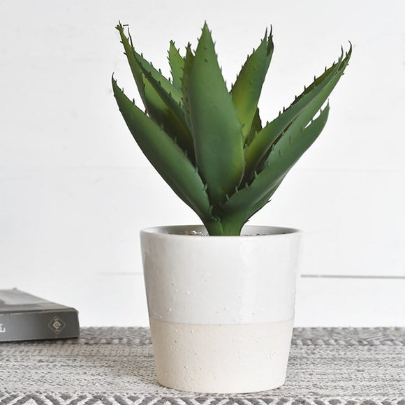 "11"" Faux Potted Aloe Plant"