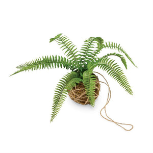 Faux Hanging Moss Fern Drop in