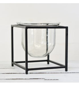 "8"" Metal & Glass Stand - Urbanlux"