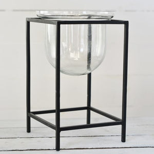 "12"" Metal & Glass Stand - Urbanlux"