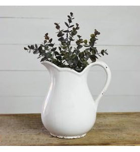 "9"" White Pitcher - Urbanlux"