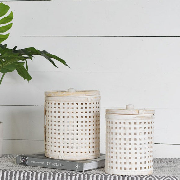 Bamboo Box with Lid(2PC)