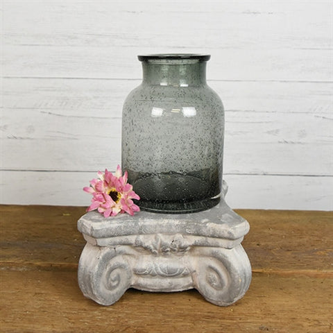 Medium Grey Glass vase