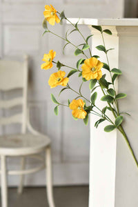 "34"" Yellow Wildflower Stem"