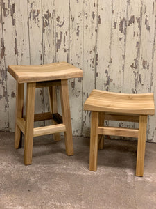 Handcrafted Saddle Stool