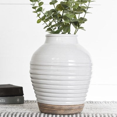 "10"" Two-Toned Stripe Vase"