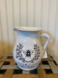 "7"" Stenciled Antique Pitcher"