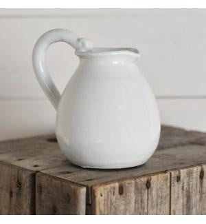 "6"" White Pitcher"