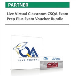 Live Virtual Classroom CSQA Exam Prep plus Exam Voucher Bundle - nanforiberica