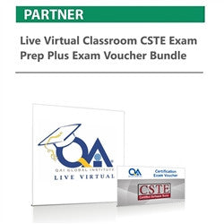 Live Virtual Classroom CSTE Exam Prep plus Exam Voucher Bundle - nanforiberica