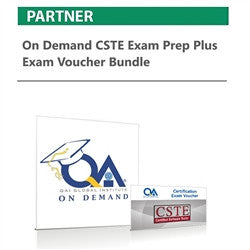 On Demand CSTE Exam Prep plus Exam Voucher Bundle - nanforiberica