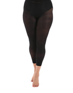 50 Denier Curvy Black Footless Tights