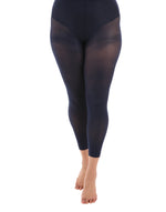 50 Denier Curvy Navy Footless Tights